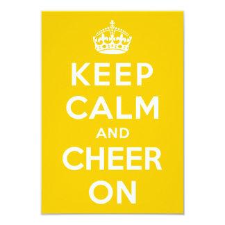"Keep Calm and Cheer On 3.5"" X 5"" Invitation Card"