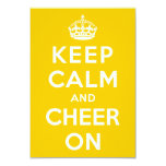 Keep Calm and Cheer On Invites