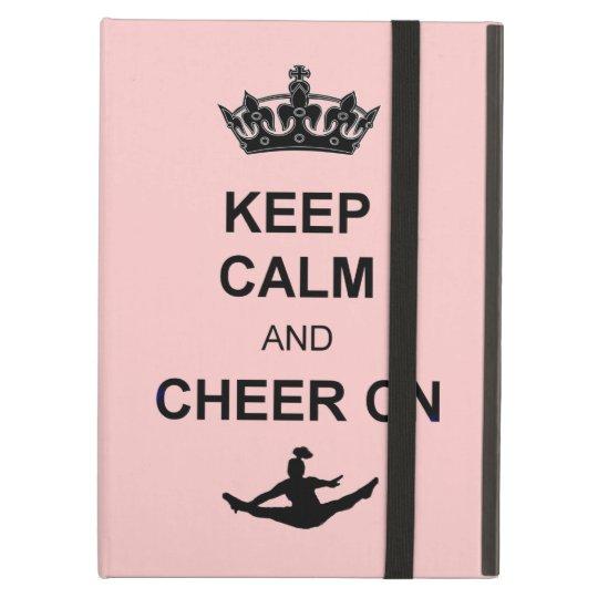 Keep Calm and Cheer on iPad Air Cover