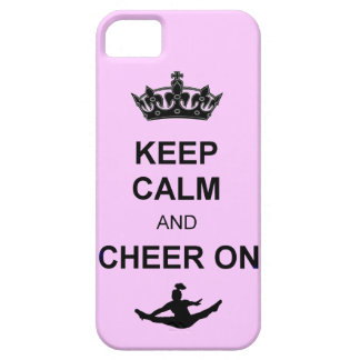 Keep Calm and Cheer on iPhone SE/5/5s Case