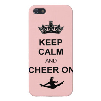 Keep Calm and Cheer on iPhone SE/5/5s Cover