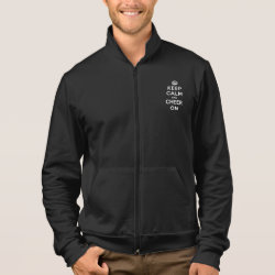 Keep Calm and Cheer On American Apparel California Fleece Zip Jogger