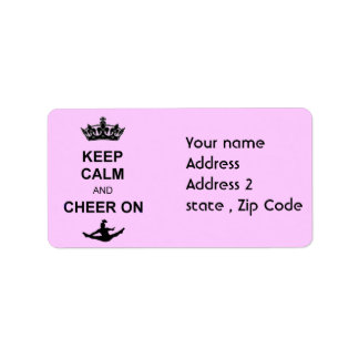 Keep Calm and Cheer on Address Label