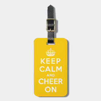 Keep Calm and Cheer On Luggage Tag