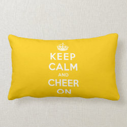 Keep Calm and Cheer On Throw Pillow Lumbar 13