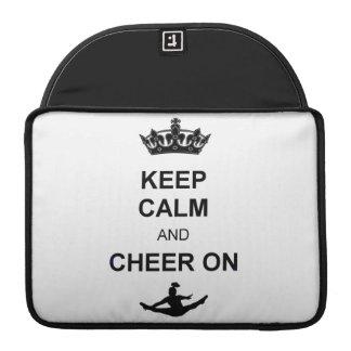Keep Calm and Cheer on MacBook Pro Sleeve