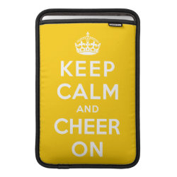 Macbook Air Sleeve with Keep Calm and Cheer On design