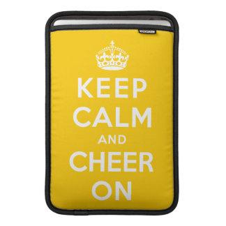 Keep Calm and Cheer On MacBook Sleeve