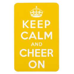 4'x6' Photo Magnet with Keep Calm and Cheer On design