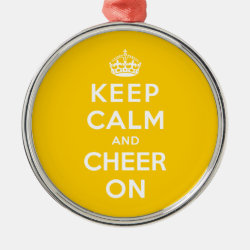 Premium circle Ornament with Keep Calm and Cheer On design