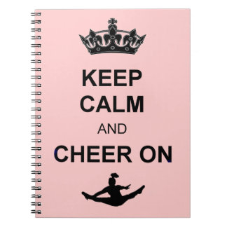 Keep Calm and Cheer on Notebook