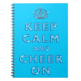 KEEP CALM AND CHEER ON Notebook for Cheerleaders