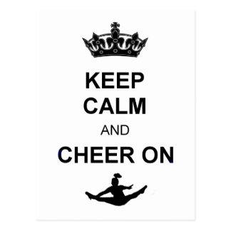 Keep Calm and Cheer on Postcard