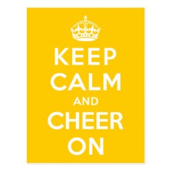 Postcard with Keep Calm and Cheer On design