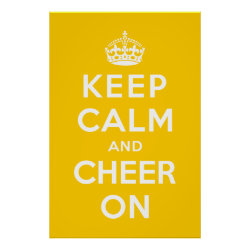 Matte Poster with Keep Calm and Cheer On design
