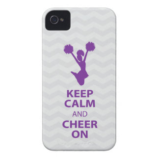 KEEP CALM and CHEER ON - Purple - iPhone4/4s case