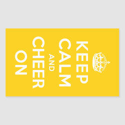 Rectangle Sticker with Keep Calm and Cheer On design