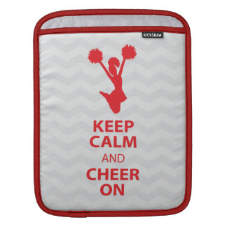 Keep CALM and CHEER ON - Red - iPad Sleeve