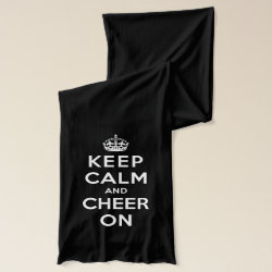 Jersey Scarf with Keep Calm and Cheer On design