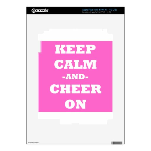 Keep Calm And Cheer On Skins For iPad 3