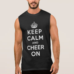 Men's Ultra Cotton Sleeveless T-Shirt with Keep Calm and Cheer On design