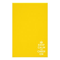 Stationery 5.5' x 8.5' with Keep Calm and Cheer On design