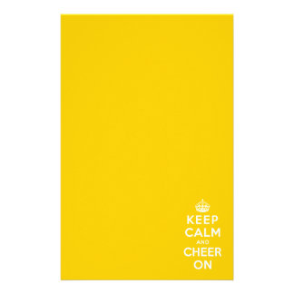 Keep Calm and Cheer On Stationery