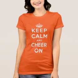 Women's Bella Jersey T-Shirt with Keep Calm and Cheer On design