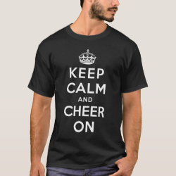 Keep Calm and Cheer On Men's Basic Dark T-Shirt