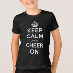 Kids' American Apparel Fine Jersey T-Shirt with Keep Calm and Cheer On design