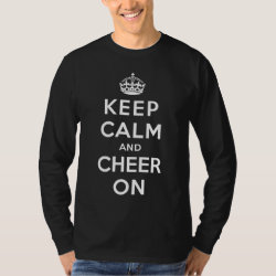 Men's Basic Long Sleeve T-Shirt with Keep Calm and Cheer On design