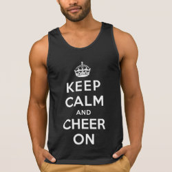 Men's Ultra Cotton Tank Top with Keep Calm and Cheer On design