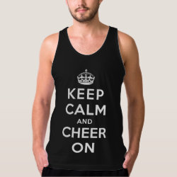 Men's American Apparel Fine Jersey Tank Top with Keep Calm and Cheer On design