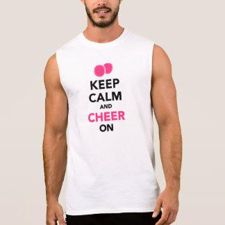 Keep calm and cheer on sleeveless tee