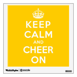 Walls 360 Custom Wall Decal with Keep Calm and Cheer On design