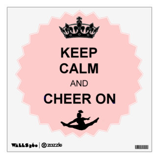 Keep Calm and Cheer on Room Sticker