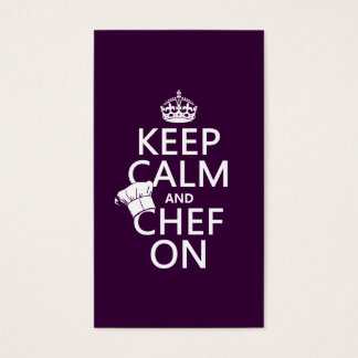 Keep Calm and Chef On Business Card