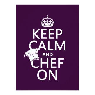 Keep Calm and Chef On Card