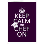 Keep Calm and Chef On (customizable) Card