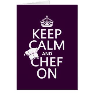 Keep Calm and Chef On (customizable) Greeting Card