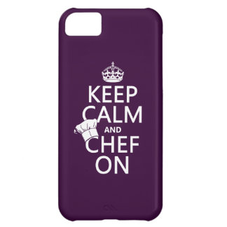 Keep Calm and Chef On (customizable) Cover For iPhone 5C