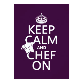 Keep Calm and Chef On (customizable) Personalized Invitation