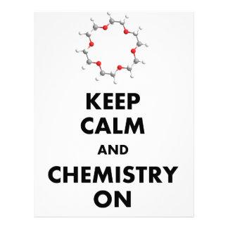 Keep Calm and Chemistry On Customized Letterhead