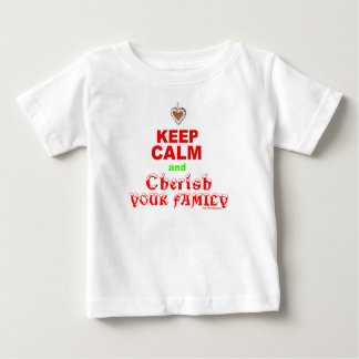 """Keep Calm and Cherish Your Family"" Merry Xmas Baby T-Shirt"