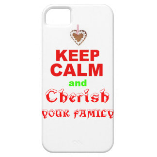 """""""Keep Calm and Cherish Your Family"""" Merry Xmas iPhone SE/5/5s Case"""