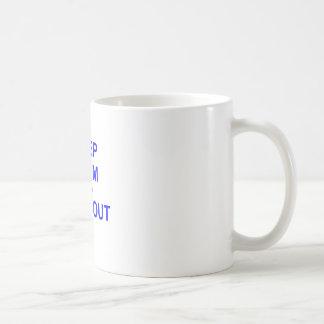 Keep Calm and Chill Out black orange blue Coffee Mug