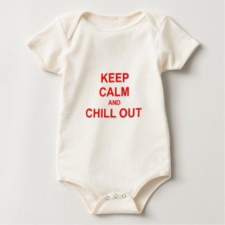 Keep Calm and Chill Out red pink gray Baby Bodysuit
