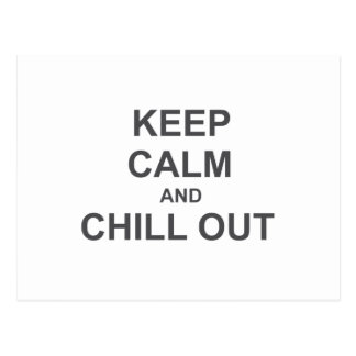 Keep Calm and Chill Out red pink gray Post Card