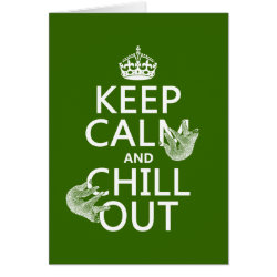 Greeting Card with Keep Calm and Chill Out (sloths) design