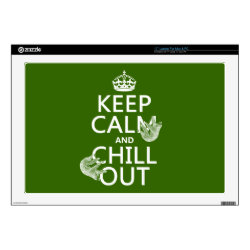 17' Laptop Skin for Mac & PC with Keep Calm and Chill Out (sloths) design